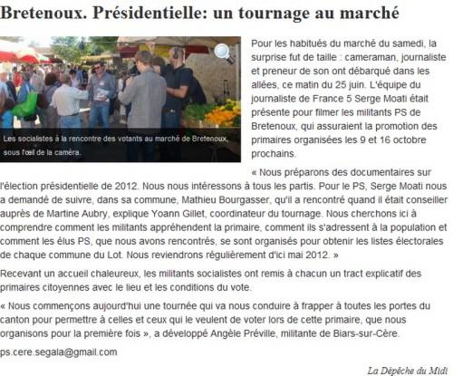 Yoann Gillet, Serge Moati, Elysée 2012, la vraie campagne, Christophe Lancellotti, PS, Mathieu Bourgasser, François Hollande, France 3